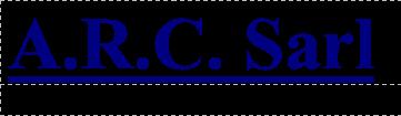 L' Histoire d'ARC SARL - 38 ISERE